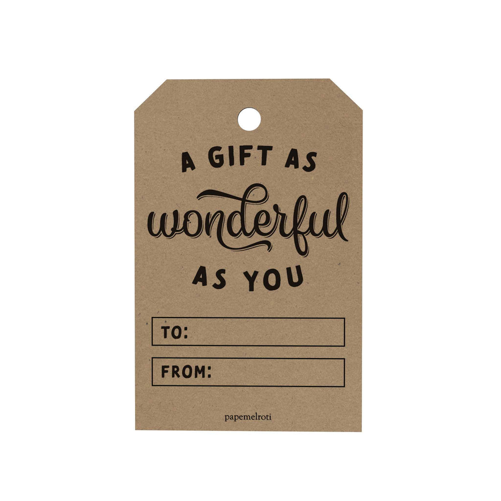 A Gift as Wonderful as You Gift Tags