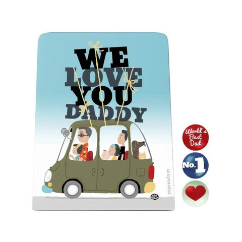 We Love You Daddy Desk Magnet Board