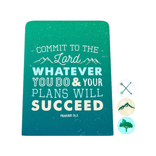 Commit to the Lord Desk Magnet Board