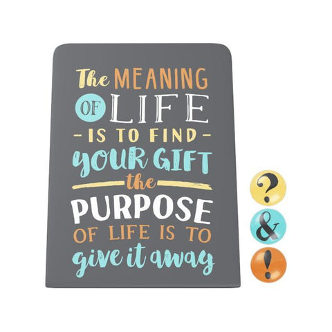 The Meaning of Life Desk Magnet Board