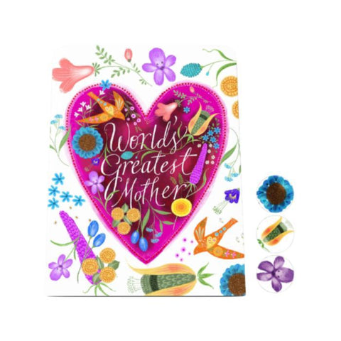 World's Greatest Mother Desk Magnet Board: Heart