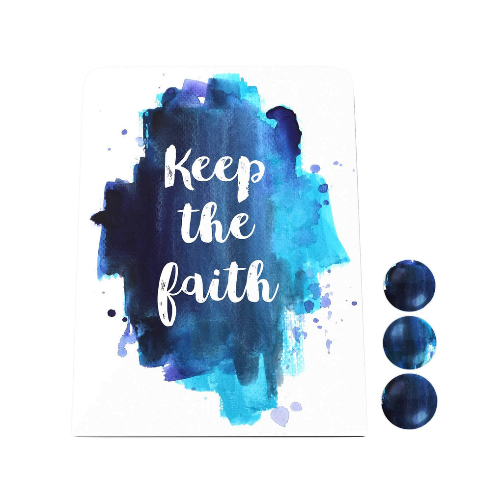 Watercolor: Keep the Faith Desk Magnet Board