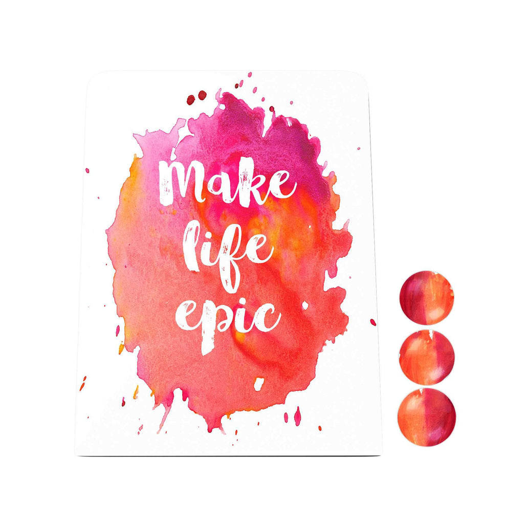 Watercolor: Make Life Epic Desk Magnet Board