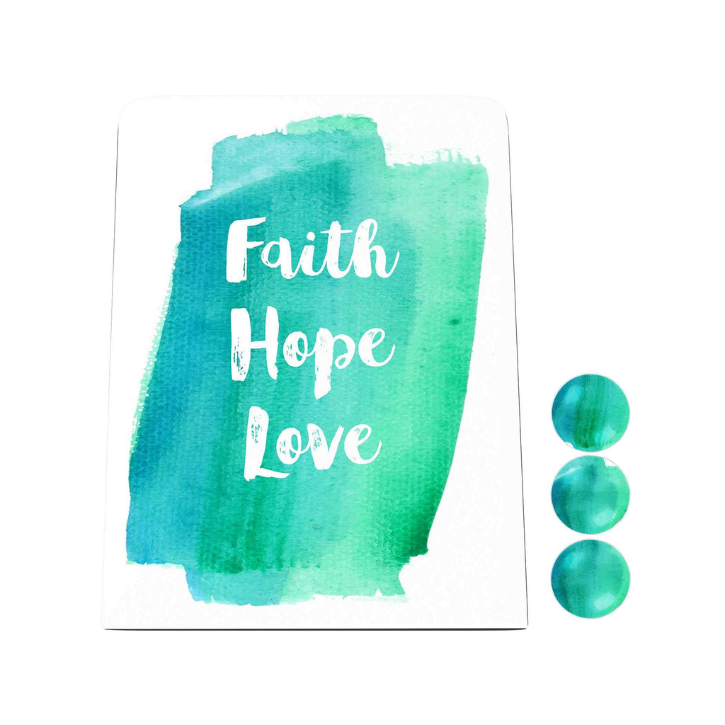 Watercolor: Faith Hope Love Desk Magnet Board