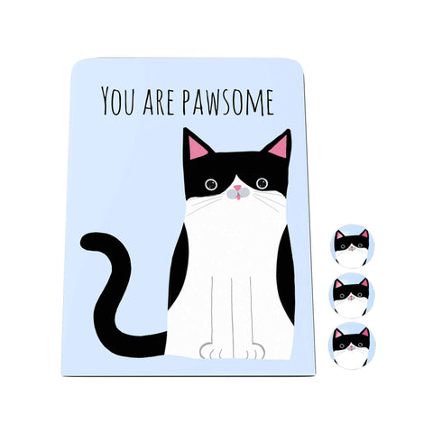 Pawsome: You are Pawsome Desk Magnet Board