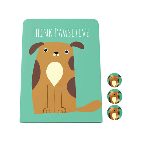 Pawsome: Think Pawsitive Desk Magnet Board