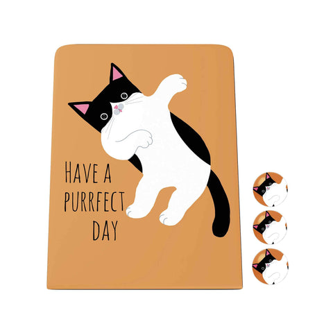 Pawsome: Have a Purrfect Day Desk Magnet Board