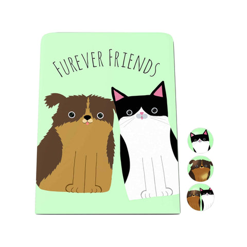 Pawsome: Furever Friends Desk Magnet Board