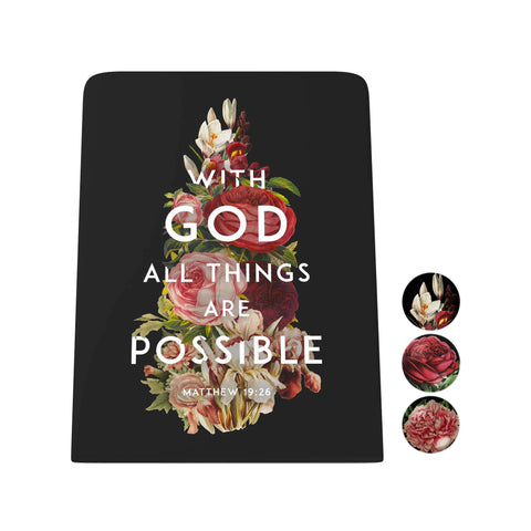 God's Garden: With God All Things Are Possible Desk Magnet Board