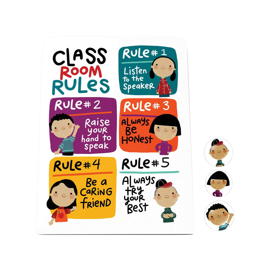 Classroom Rules Desk Magnet Board
