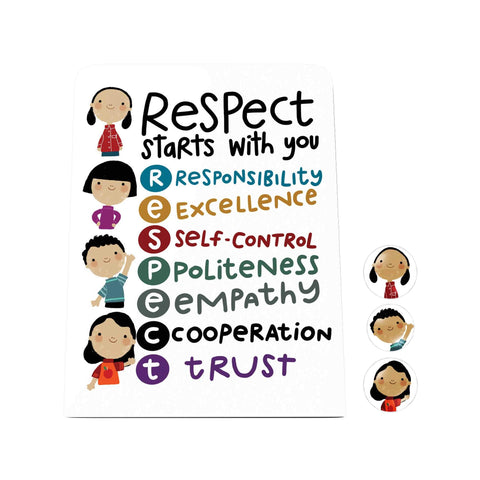 Respect Starts with You Desk Magnet Board