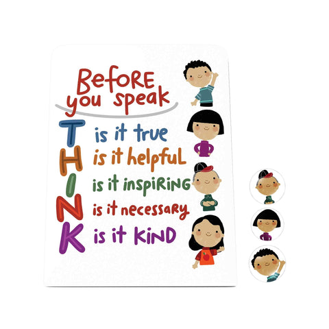 Before You Speak Think Desk Magnet Board