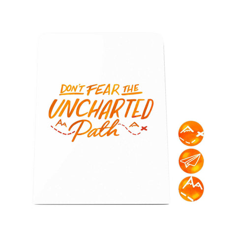 Grand Adventure Desk Magnet Board: Don't Fear the Uncharted Path