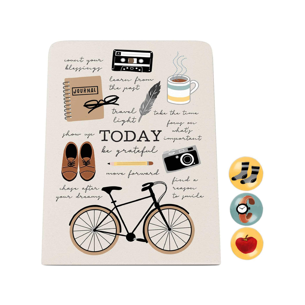 Everyday Things Desk Magnet Board: Today Be Grateful