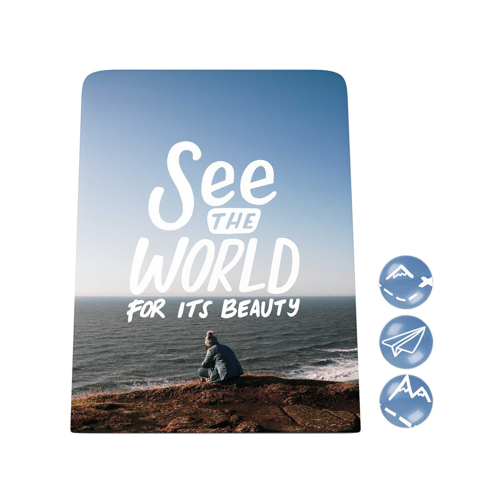 Grand Adventure Desk Magnet Board: See the World