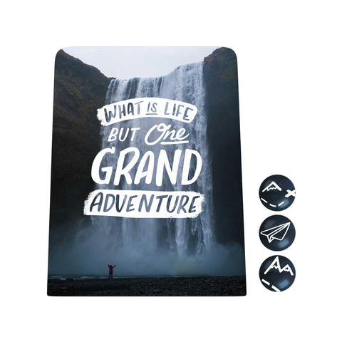 Grand Adventure Desk Magnet Board: What Is Life