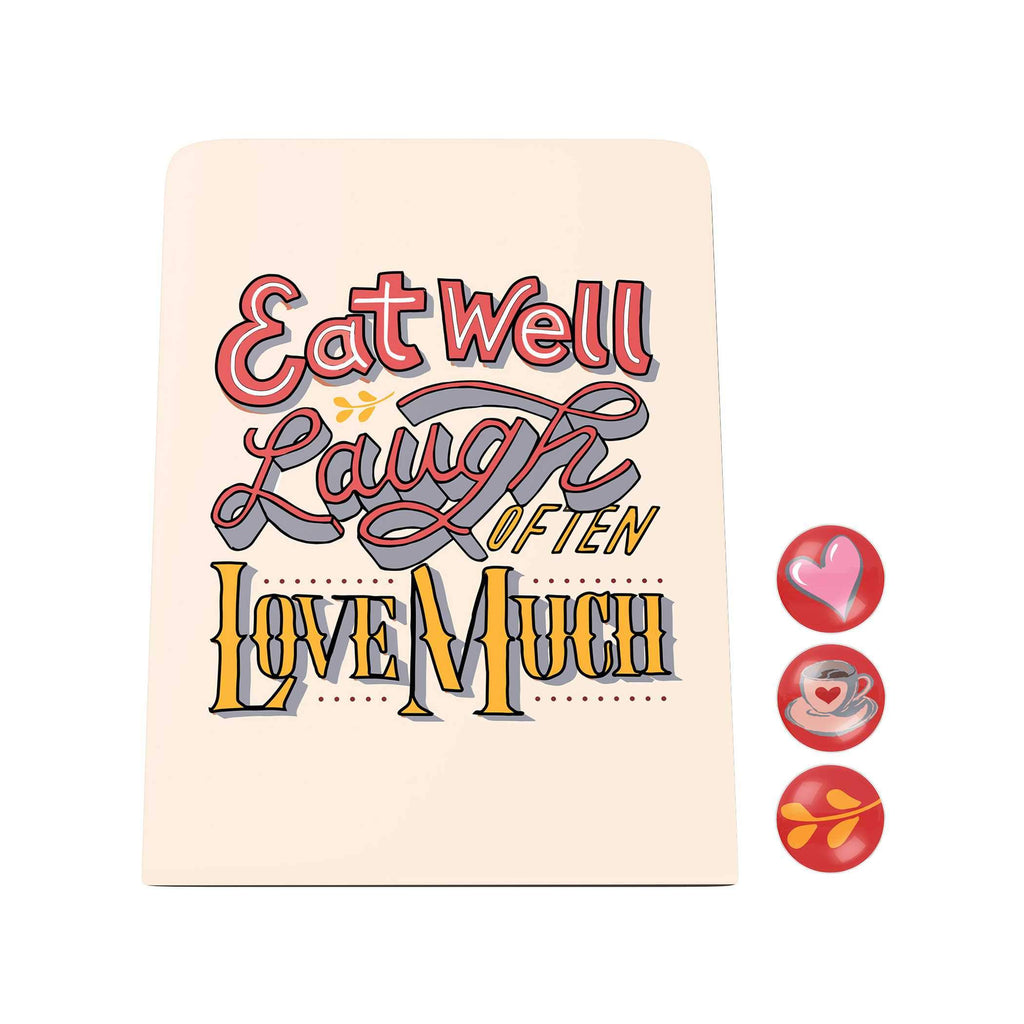 Words of Love Desk Magnet Board: Love Much