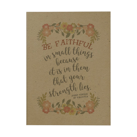 Be Faithful in Small Things Notebook