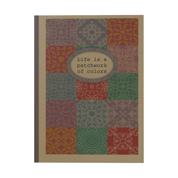 Life is a Patchwork of Colors Notebook