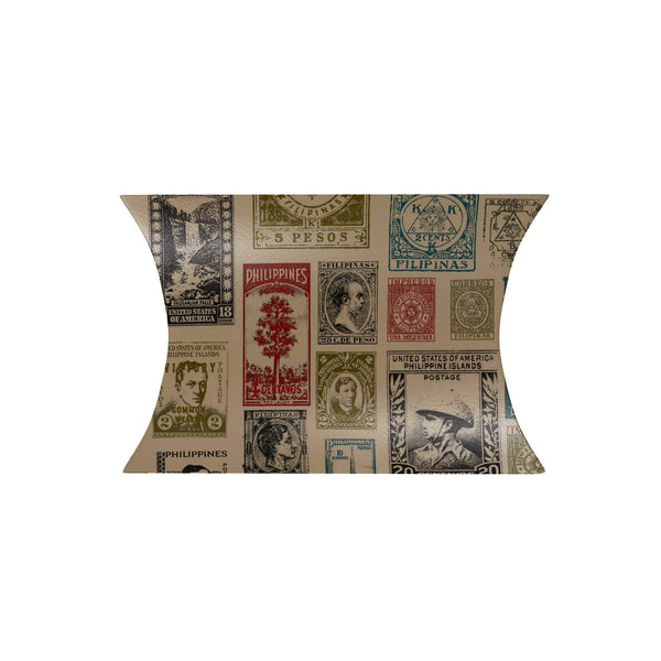 Vintage Philippine Stamps Pillow Box