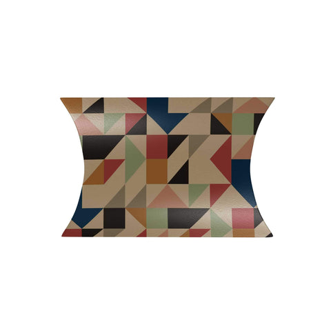 Abstract Geometric Triangle Pillow Box