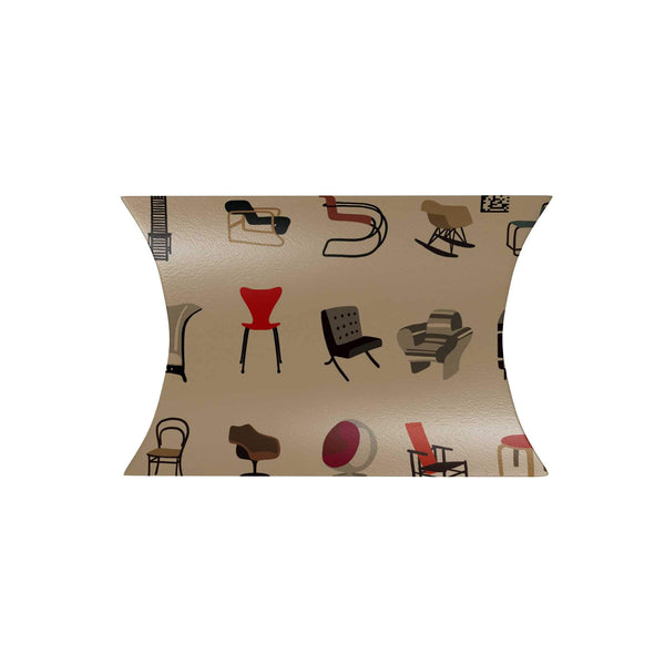 20th Century Iconic Chairs Pillow Box
