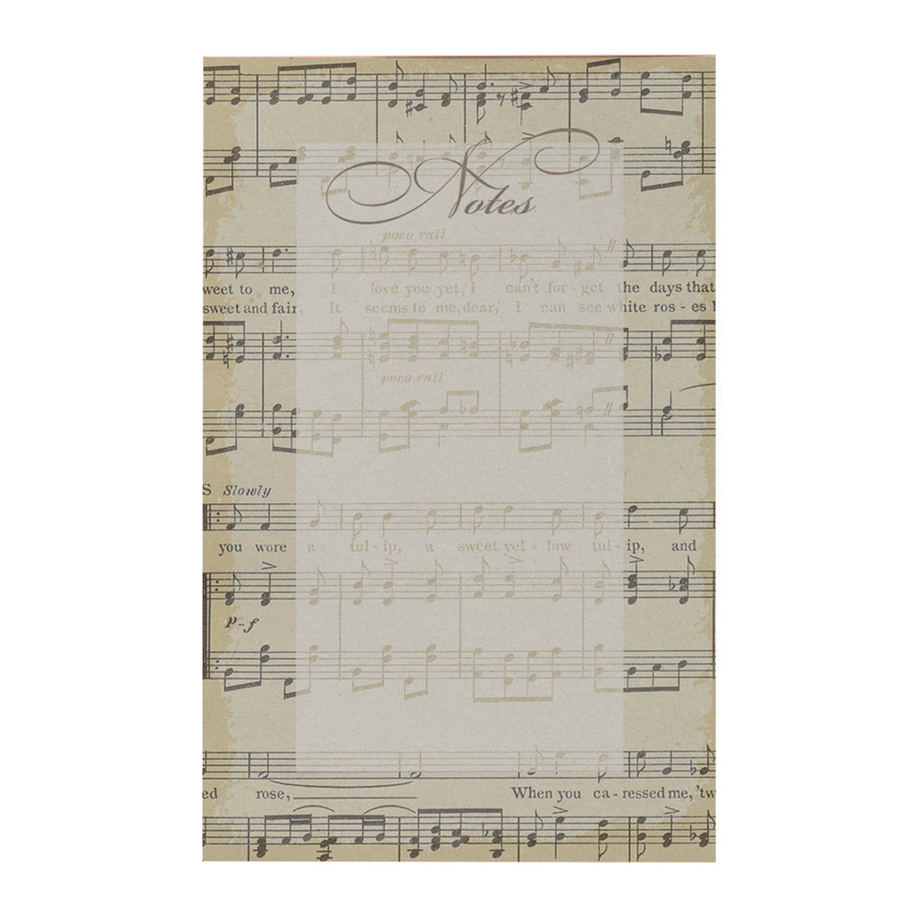 Vintage Music Notepad