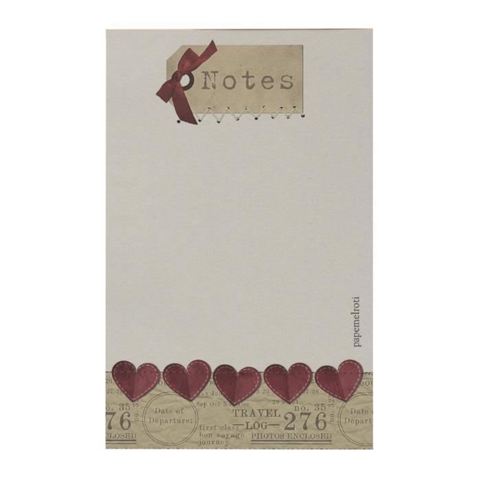 Notes: Tag and Heart Notepad