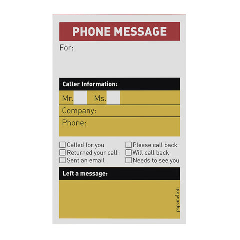 Phone Message Notepad