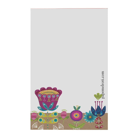 Whimsical Flowers Notepad