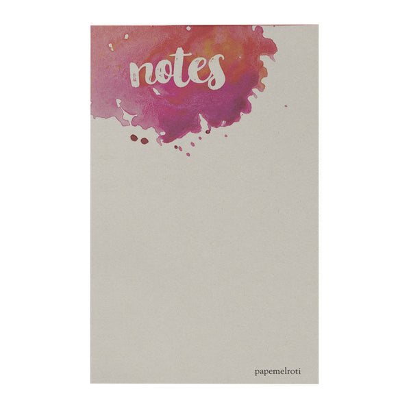 Notes Notepad: Watercolor