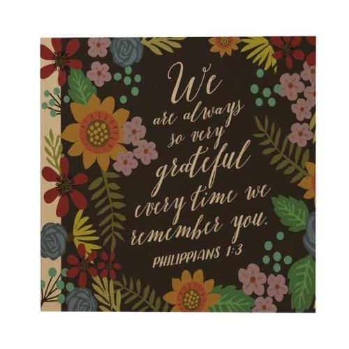 Grateful Ever Time Square Greeting Card