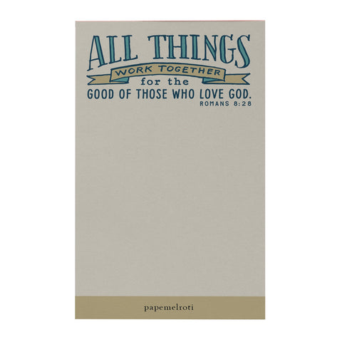 All Things Work Together Notepad