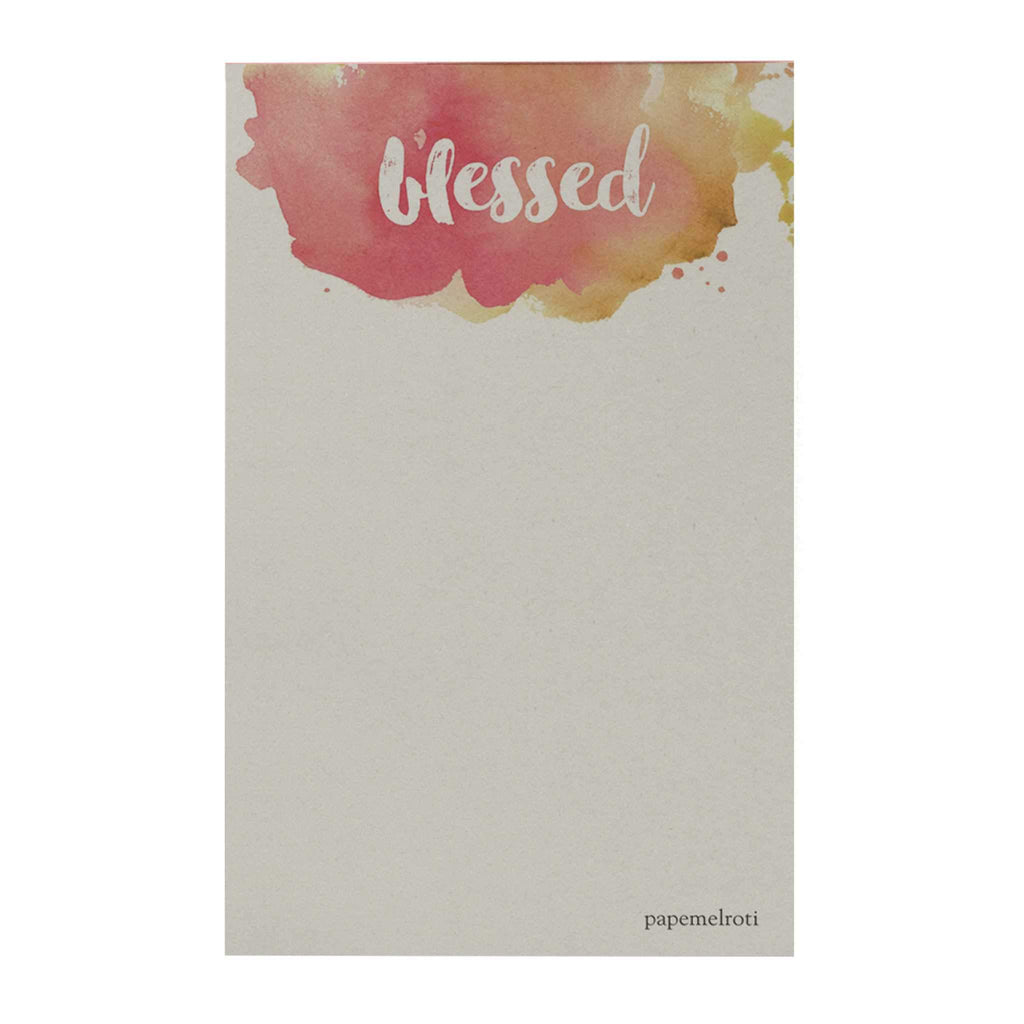 Watercolor: Blessed Notepad