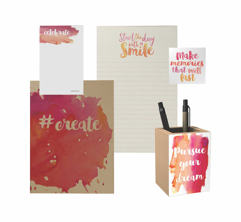 Watercolor Premium Gift Set: Pink