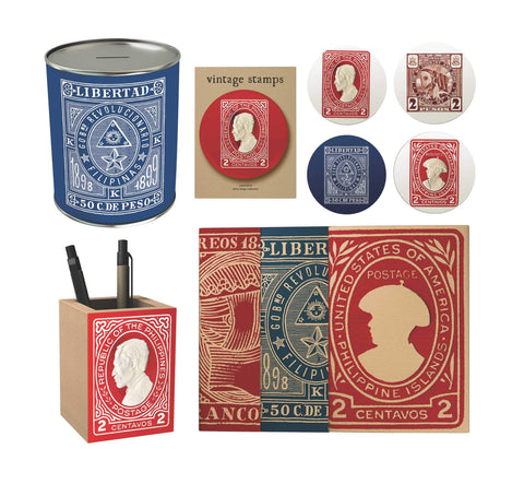 Vintage Philippine Stamps Premium Gift Set
