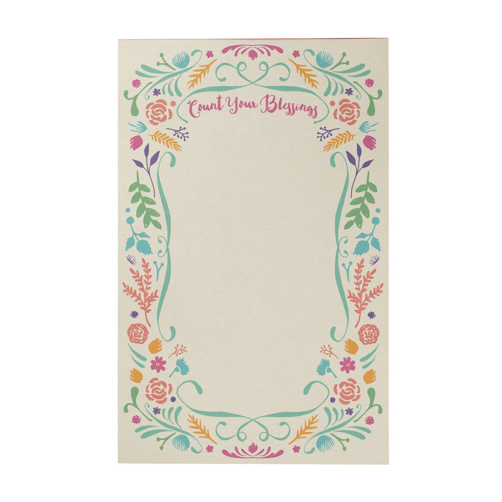 Count Your Blessings Writing Pad