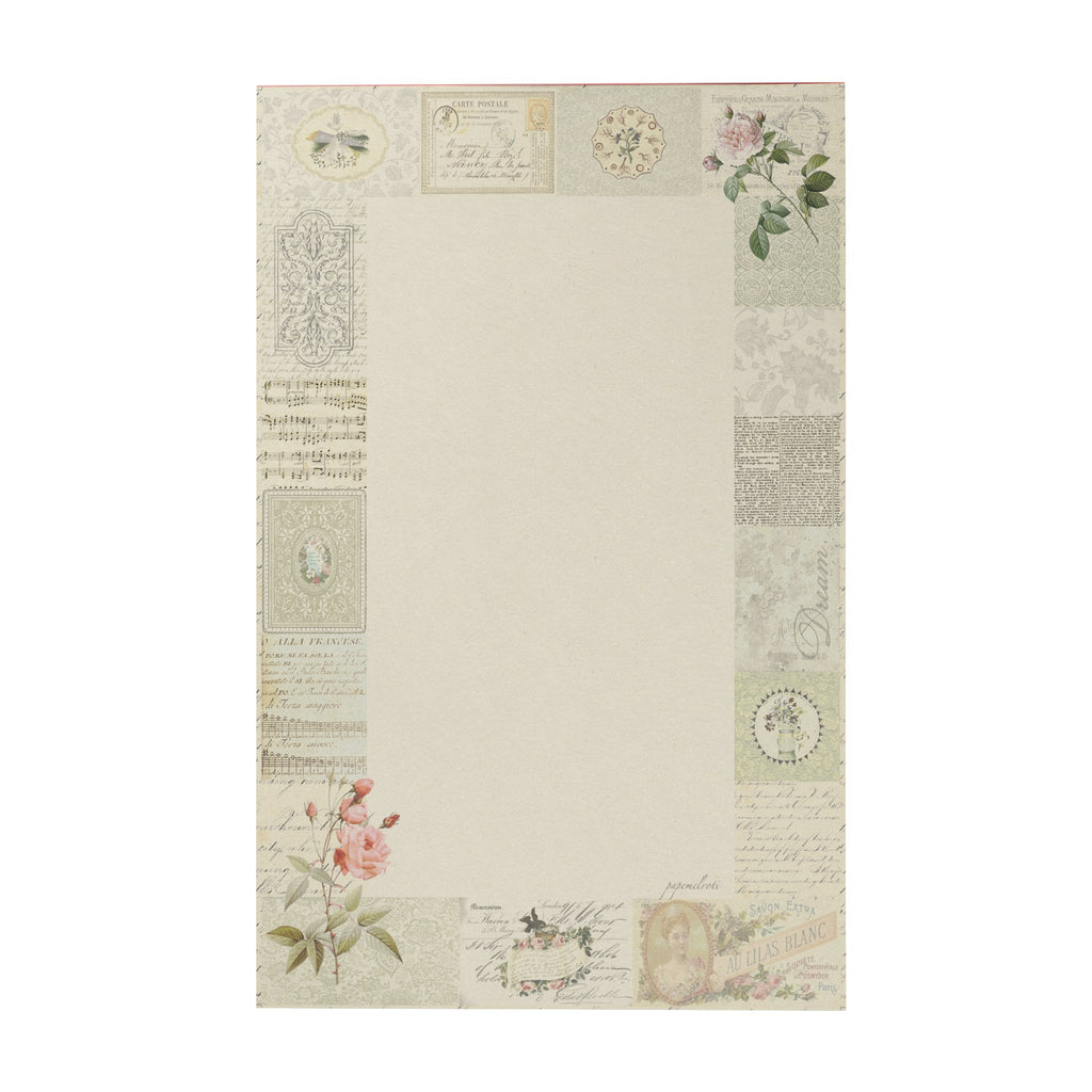 Botanical Vintage Writing Pad