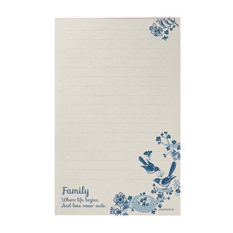Family Where Life Begins Writing Pad
