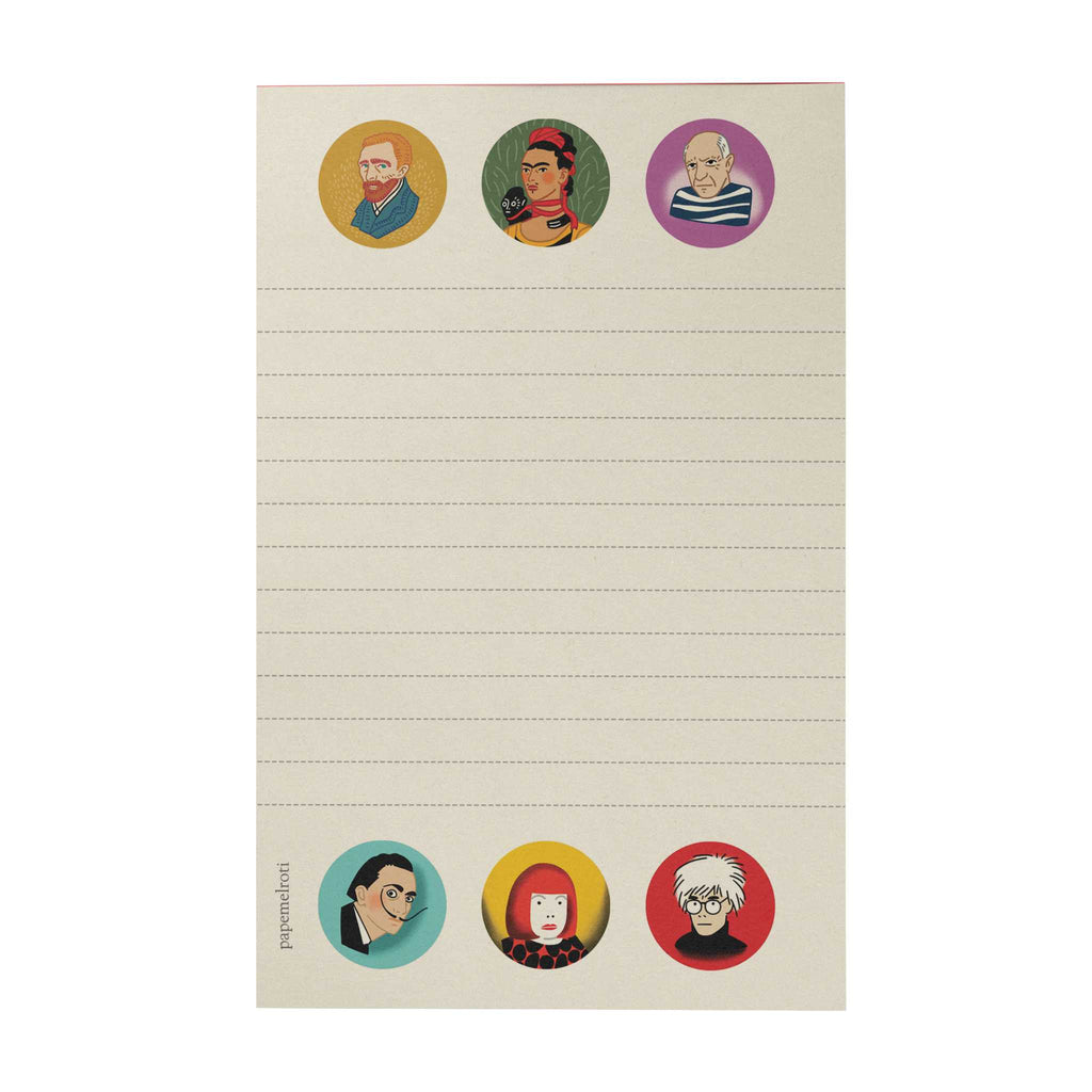 Iconic Artists Writing Pad