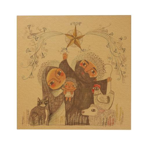 Holy Family Square Greeting Card