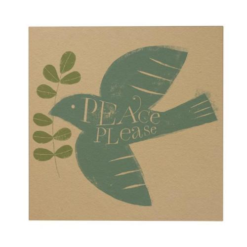 Peace Please Square Greeting Card