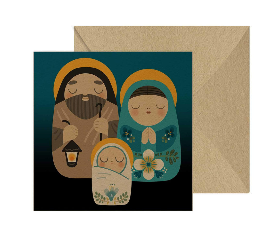 Holy Family Blank Card Set Babushka