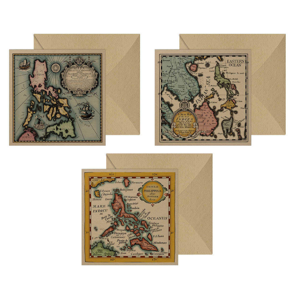 Vintage Philippine Map Notecards