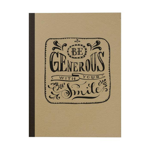Be Generous Notebook