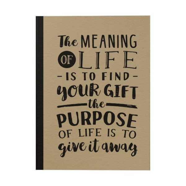 The Meaning of Life Notebook