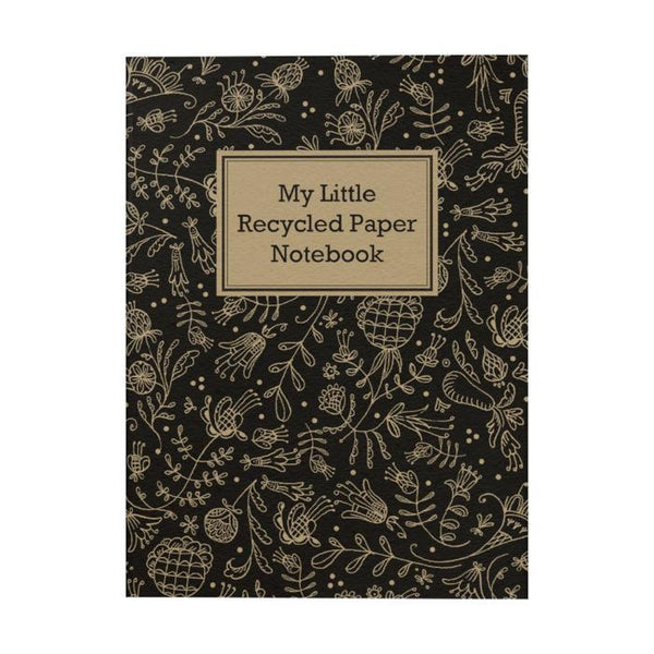 My Little Recycled Paper Notebook: Floral