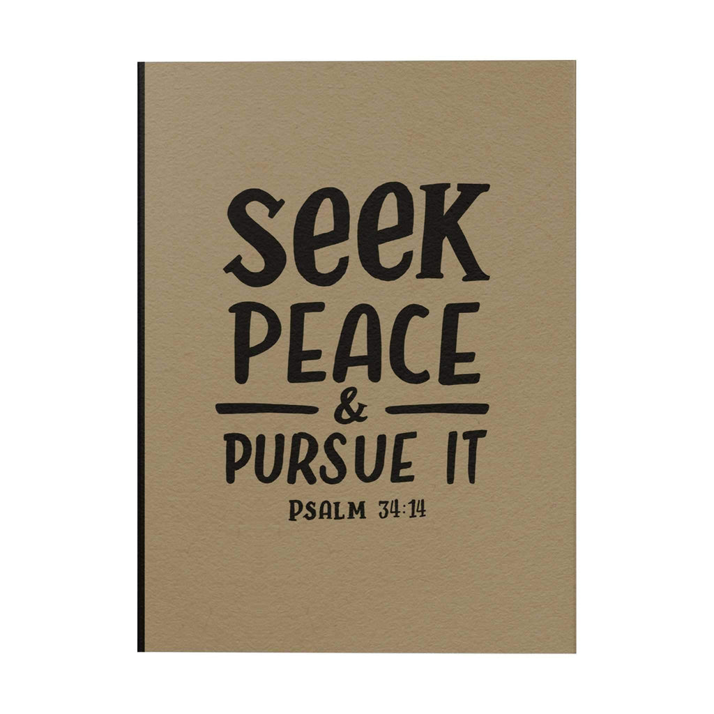 Seek Peace Notebook