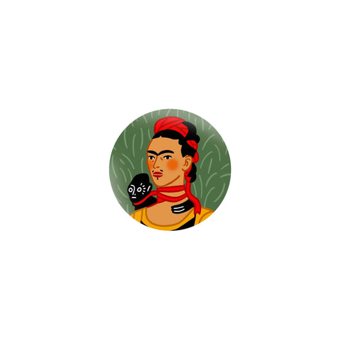Iconic Artist Matte Sticker: Frida Kahlo