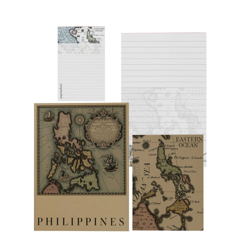Vintage Map Notebook and Notepad Set